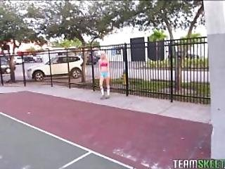 Sexy Little Basketball Girl Takes Big Cock To The Hole