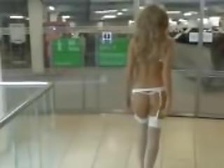 Girlfriend amateur exhibitionist in public