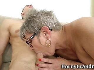 blowjob, sædshot, briller, bedstemor, hardcore, matur