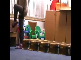 Real Teacher Fucks Student In Classroom