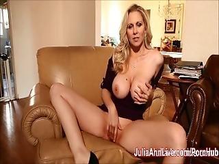 Busty Blonde Milf Julia Ann Fingers Her Pussy%21