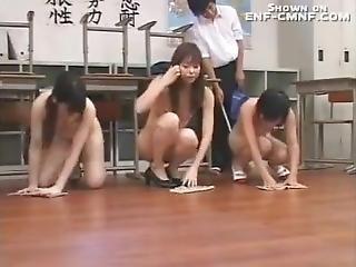 amateur, klas lokaal, gangbang, japaans, feest, publiek, school