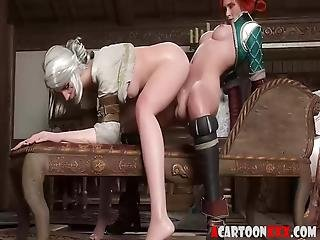 Horny Hung Futanari Fucking Hard With Their Girlfriends In Different Scenes, Watch The Threesome At The End Of The Video Enjoy!