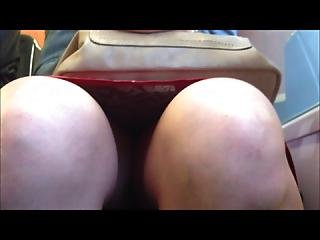 Legs And Upskirt In Train 2