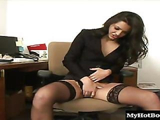 Alicia Angel Is Horny In The Office