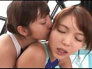 Dvdes-382 Lesbian Love Swimsuit Asian Dykes