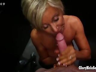 Hot Older Milf Sucking Off Younger Guys In Strange Gloryhole