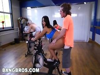 Sexy Latina Fucks Teacher In Spin Class