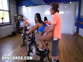 Sexy Latina Fucks Teacher In Spin Class