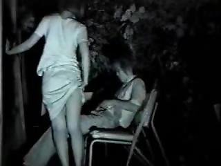 Night Vision Of Drunk Couples Fucking On The Back Porch