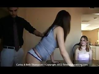 Carissa Pays Debt With A Spanking