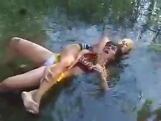 Russian Cheerleader Catfight Esp. In Water