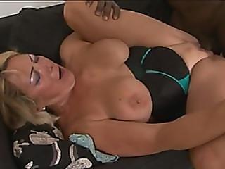Blonde Granny Sarah Doggy Style Big Black Dong