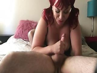 Redhead 69 Deepthroat Blowjob With Cum In Mouth