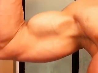 After A Good Shower I Need To Pump Up My Big Biceps