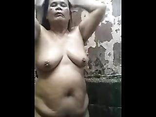 Amateur, Asiatisch, Arsch, Fetter Arsch, Gross Titte, Mollig, Filipina, Omi, Reife, Dusche, Solo, Webkam