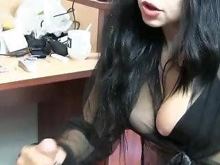 Sanna Gives Handjob To Big Cock In Hotelroom