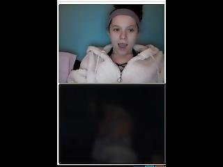 Omegle Mix Of Girls Reacting A Huge Cock