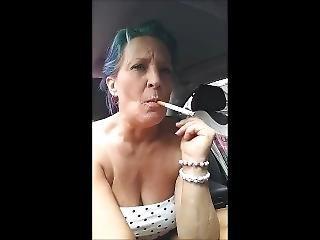 Milf Sexy Smoke In The Car