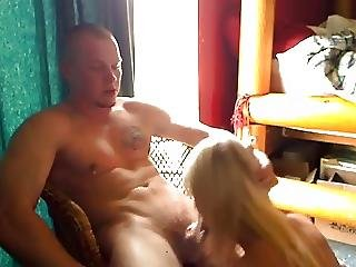 Amateur Blonde And Soldier