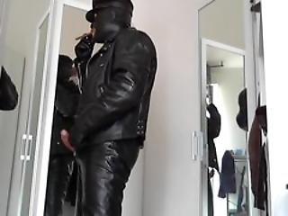 Leather Biker Masked Rubber Plug Anal