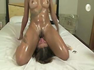Ass, Facesitting, Lesbian, Mother, Oiled, Rubbing