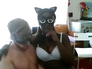 Busty Luscious Ebony Cam Couple, Model Name ?