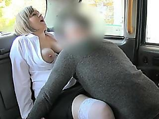 Chubby Hot Chick Gets Fucked In The Cab For The First Time