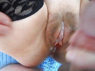 Working The Clit Then Shooting Hot Cum On It