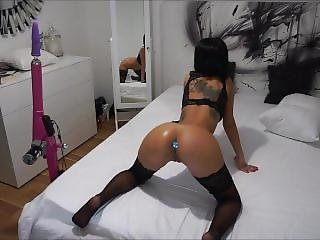 Anisyia Livejasmin Buttpluged Fuckingmachine Double Penetration