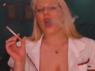 Smoking School Girl