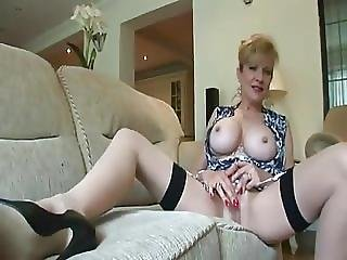 Mature British Woman Plays With Her Pussy