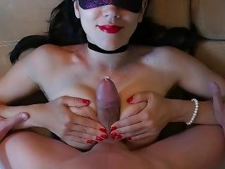 Step Sister Titfuck & Cumshot, Exciting Red Nails And Red Lips )
