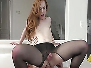 Tiny Tits Ts Shiri Trap In Pantyhose Gets Asshole Screwed