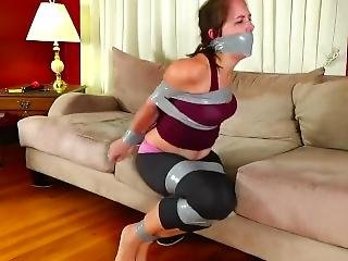 Rachel Yoga Instructor Duct Taped