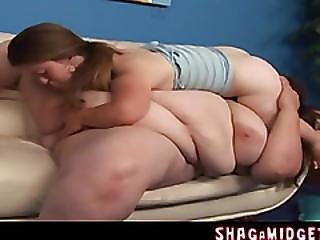 Fat Lesbian Lick On Midget Cunt