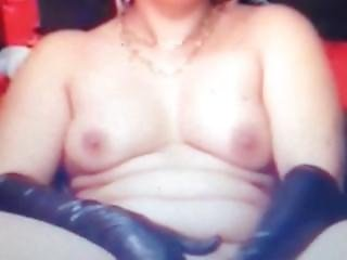 Webcam Whore In Latex Gloves