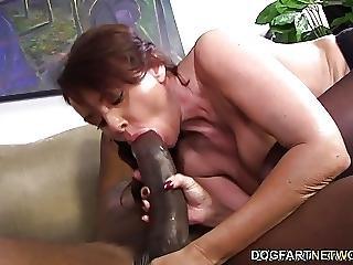 Janet Mason Tries Mandingos Huge Black Cock