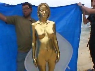 Gold Painting Making