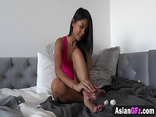 A Horny Man Persuades His Hot Asian Girlfriend To Suck And Ride His Cock