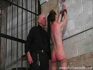 Strict Whipping Of Amateur Slave Lolani And Spanking Punishment Of Striped Masochist Tied In Dungeon Bondage And Kinky
