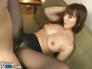 Japanese Idol Gives The Best Pantyhose Footjob