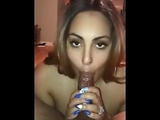 Sexy Latina Sucking Bbc