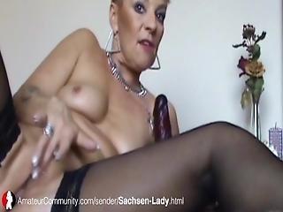 Sachsen Lady Beim Rauchen Und Blasen