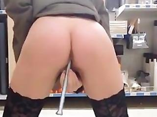 Amateur, Blonde, German, Insertion, Masturbation, Store