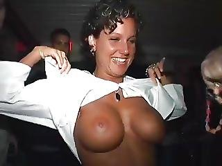 Babe, Strand, Gruppesex, Mardi Gras, Brystvorter, Offentlig, Sex