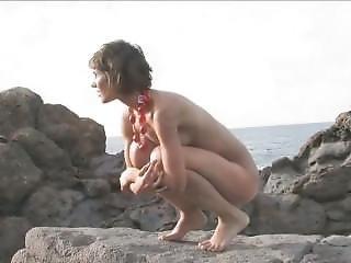 Brunette Babe Is On The Rocks - Demi Allen