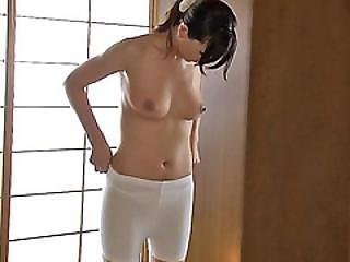 Luscious Japanese Sweetie Jun Lets Stepbro Fucks Her Nicely