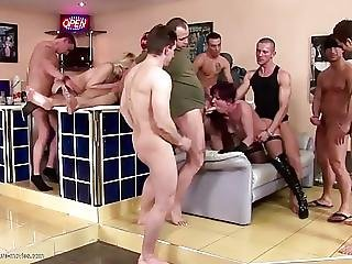 Desperate Mature Housewives Gets Pissing After Gangbang