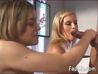 Two Blondes Love Sharing A Obese Dong